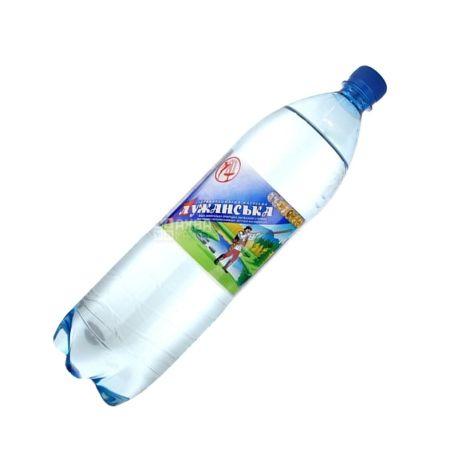 Лужанська, 1,5 л, Вода газована, Мінеральна, ПЭТ