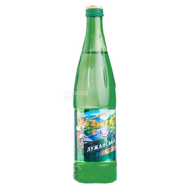 Лужанская, 0,5 л, Вода газированная, Минеральная, стекло