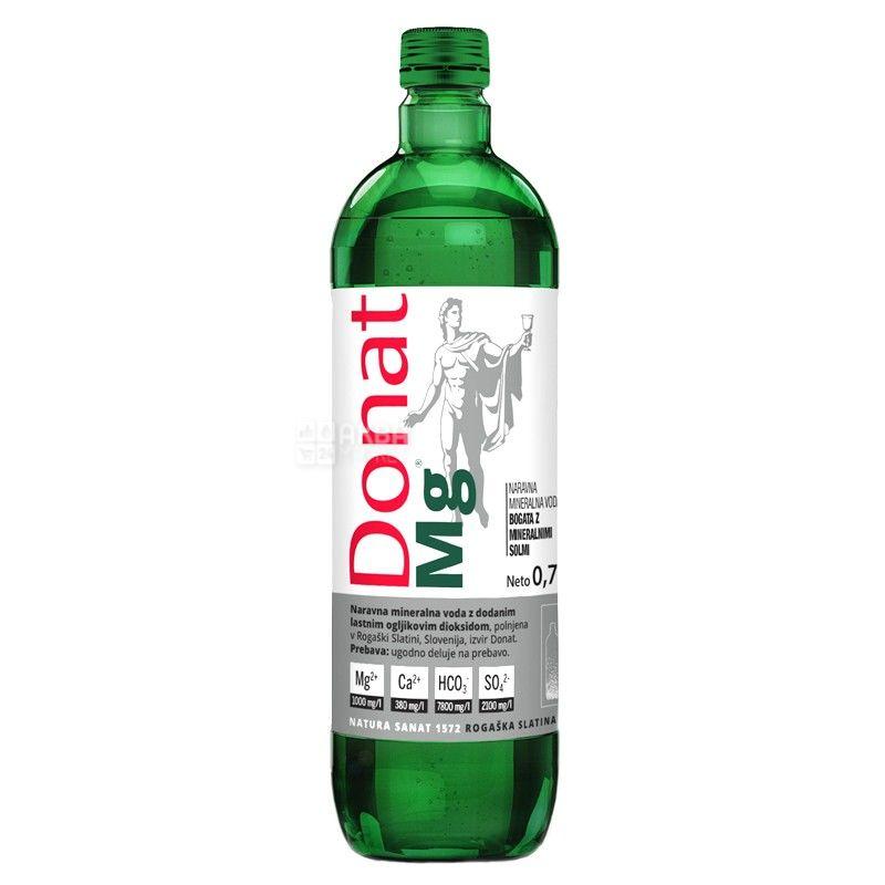 Donat Mg, 0,75 л, Донат, Вода сильногазированная, с магнием, стекло