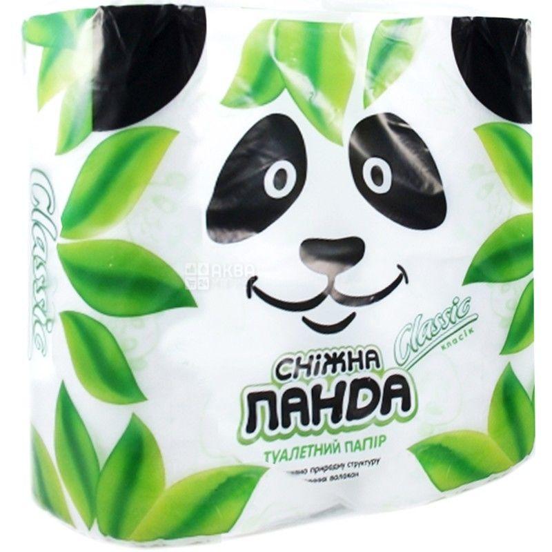 Снігова Панда, Classic, 4 рул., Туалетний папір, Классік, 2-х шаровий