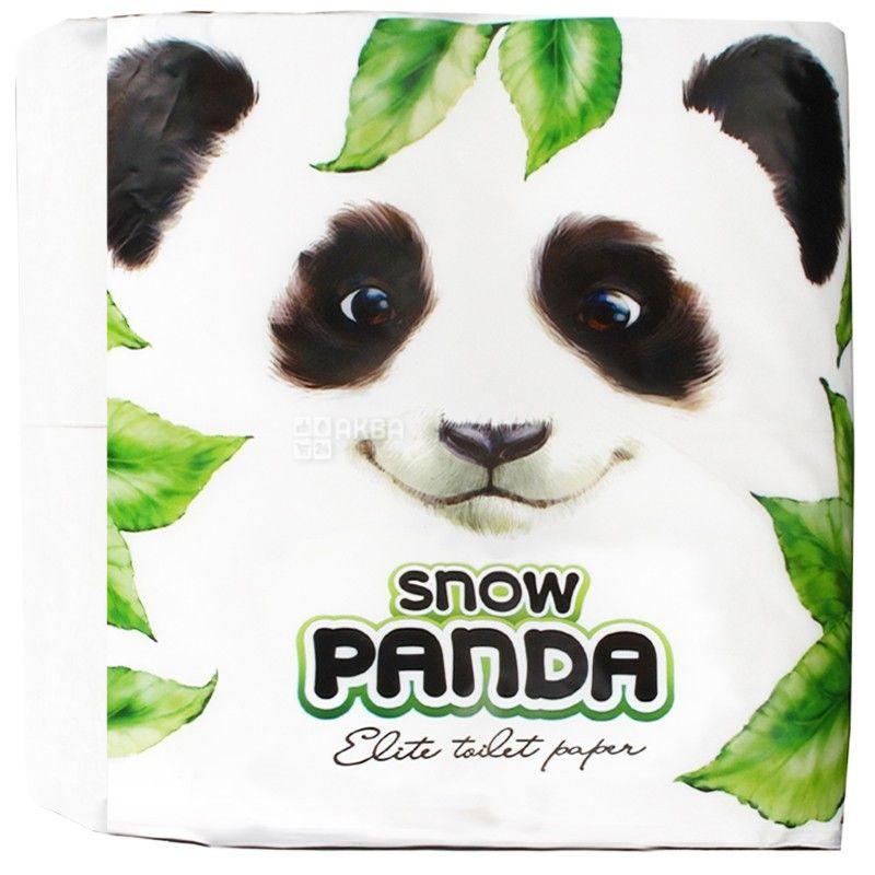 Снежная Панда, Elite, 4 рул., Туалетная бумага, Элит, 2-х слойная