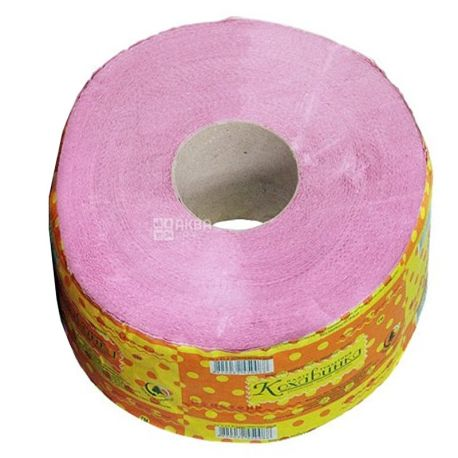 Кохавинка, туалетний папір, Джамбо, рожевий, одношаровий