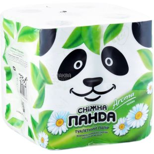 Снежная Панда, 8 рулонов, туалетная бумага, Aroma, м/у