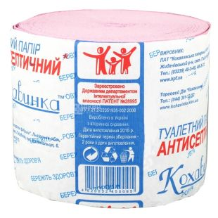 Kohavinka Antiseptic toilet paper, 1 roll