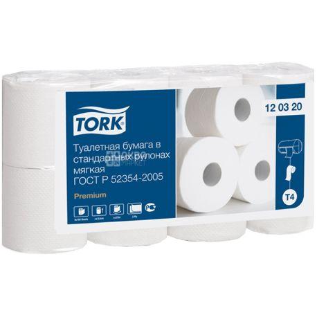 Tork Premium, 8 рул., Туалетная бумага Торк Премиум, 2-х слойная
