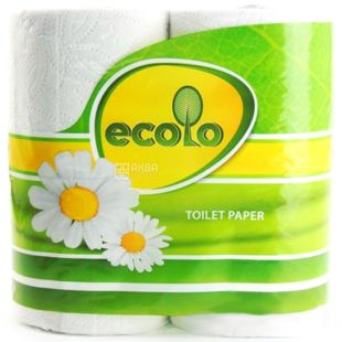 Ecolo, 4 rolls, toilet paper, double layer, m / s