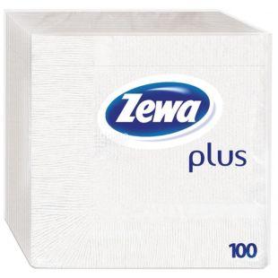 Zewa, 100 pcs., 33x33 cm, napkins, Single Layer, Plus, m / s