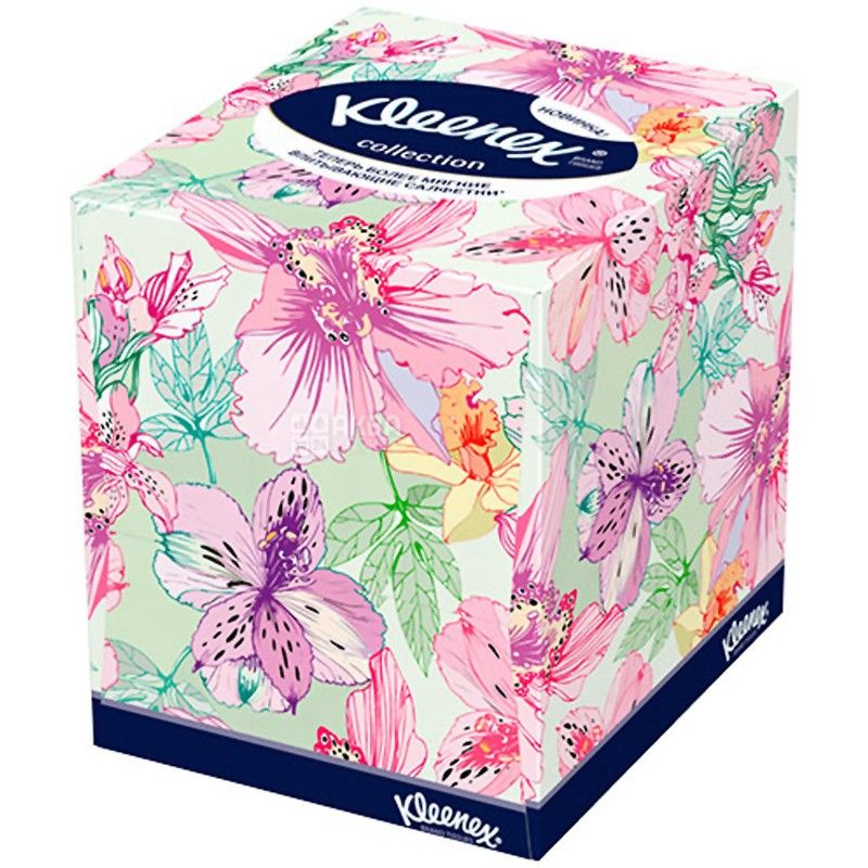Kleenex, 100 pcs., 22х22 cm, napkins, Double-layered, Cube Collection XL, used