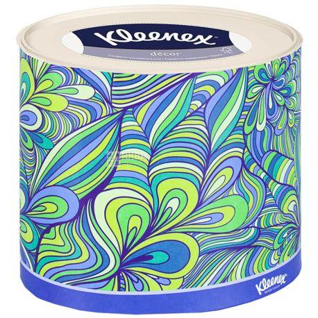 Kleenex, 64 шт., серветки, Тришарові, Decor Oval, м/у