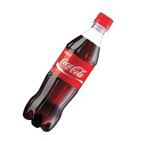Coca-cola, 0,5 л, сладкая вода, ПЭТ