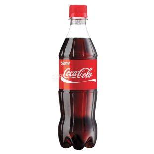 Coca-Cola, 0,5 л, Кока-Кола, Вода сладкая, ПЭТ