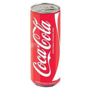 Coca-Cola, 0,25 л, солодка вода, ж/б