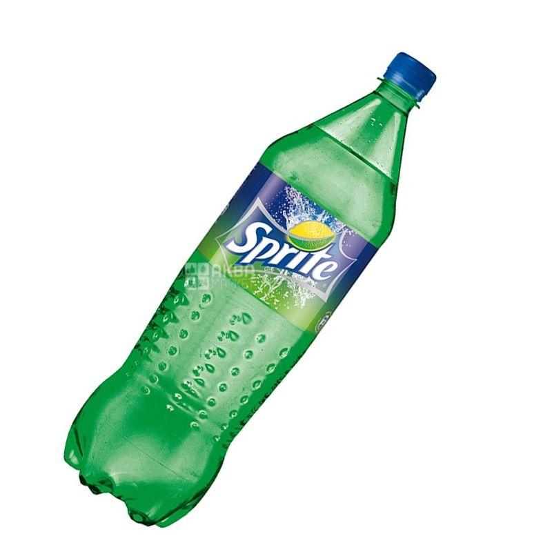 Sprite, 2 л, Спрайт, Вода солодка, зі смаком лайма і лимона, ПЕТ