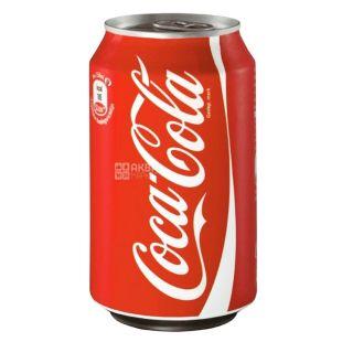 Coca-Cola, 0,33 л, сладкая вода, ж/б