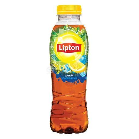 Lipton, 0,5 л, Чай Ліптон, холодний, чорний, Лимон