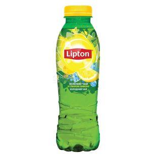 Lipton, 0,5 л, Чай Ліптон, холодний, зелений, Лимон