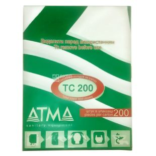 ATMA, 200 pcs., Lining the toilet, Hygienic, White, m / s