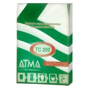 АТМА, 200 шт., накладки на унітаз, Гігієнічні, Білі, м/у