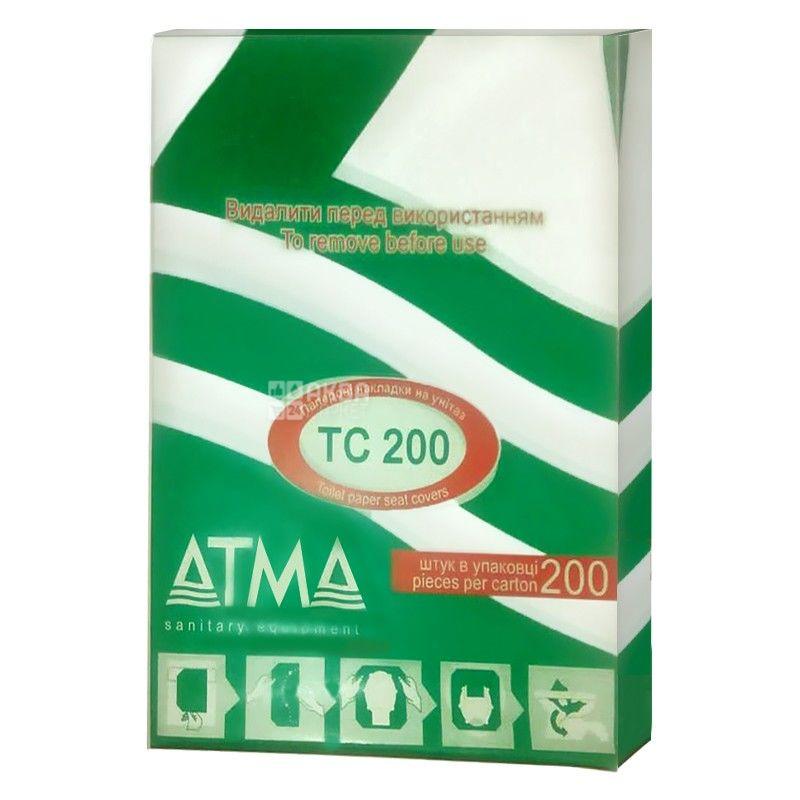 АТМА, 200 шт., Накладки для унитаза, гигиенические