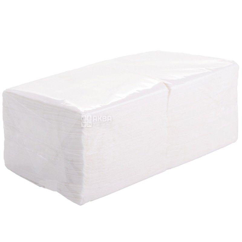 Барные салфетки, 500 шт., Однослойные, прочные, 22х22 см, белые