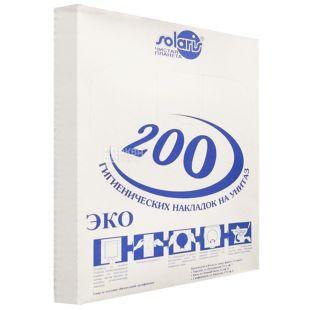 Solaris, 200 шт., накладки на унітаз, Гігієнічні, м/у