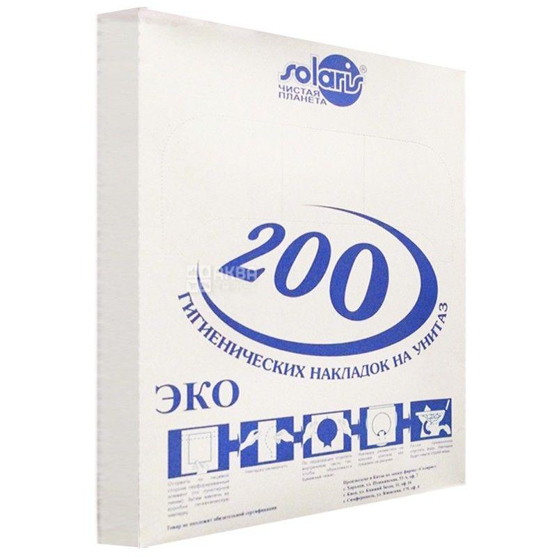 Solaris, 200 шт., Накладки для унітазу Солярис, гігієнічні