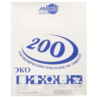 Solaris, 200 pcs, overlays for toilet, Hygienic, m / s