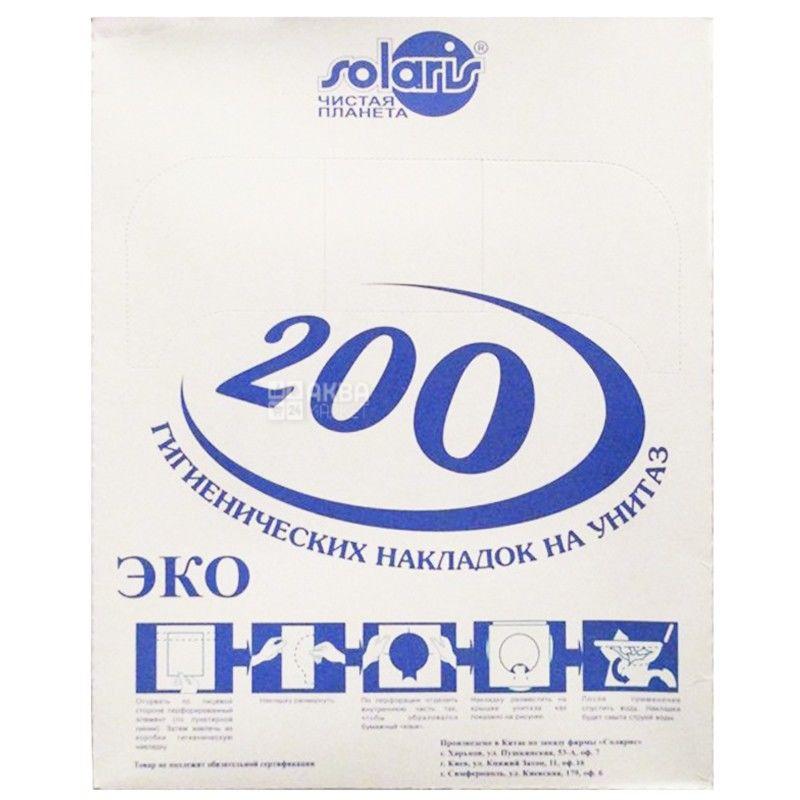 Solaris, 200 шт., Накладки для унитаза Солярис, гигиенические