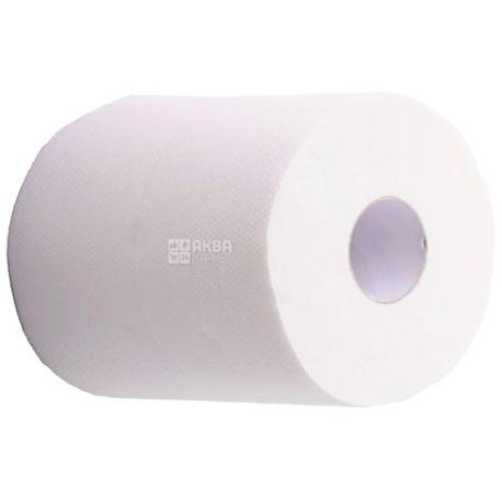 Mirus, 1 рул., Бумажные полотенца Мирус, 2-х слойные, без перфорации, 150 м