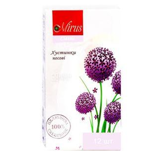 Mirus Classic, 12 шт., Платки носовые бумажные Мирус Классик, 2-х слойные