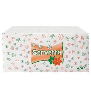 Servetta, 450 шт., 24х24 см, салфетки, Белые, м/у