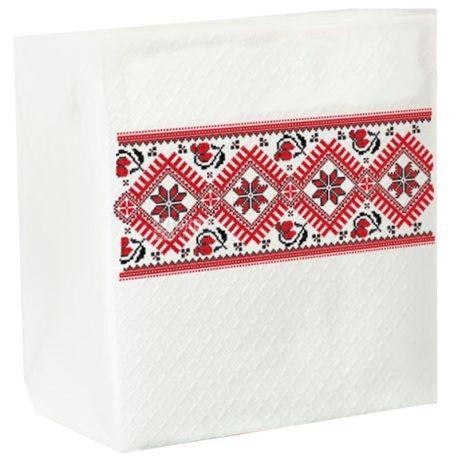 Servetta, 40 шт., 24х24 см, салфетки, С узором, м/у
