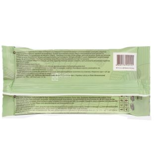ECORelax, 15 шт., вологі серветки, Натуральні, З вітаміном Е, м/у