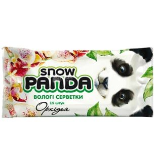 Snow Panda, 15 pcs., Wet wipes, Orchid, m / y