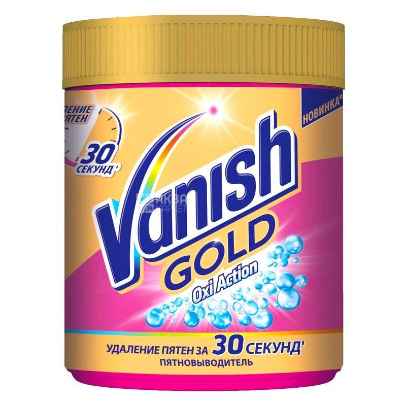 Vanish, 470 г, пятновыводитель для цветных тканей, Oxi Action GOLD
