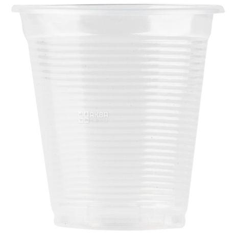 Промтус Стакан пластиковый Прозрачный устойчивый 200 мл, 100 шт.