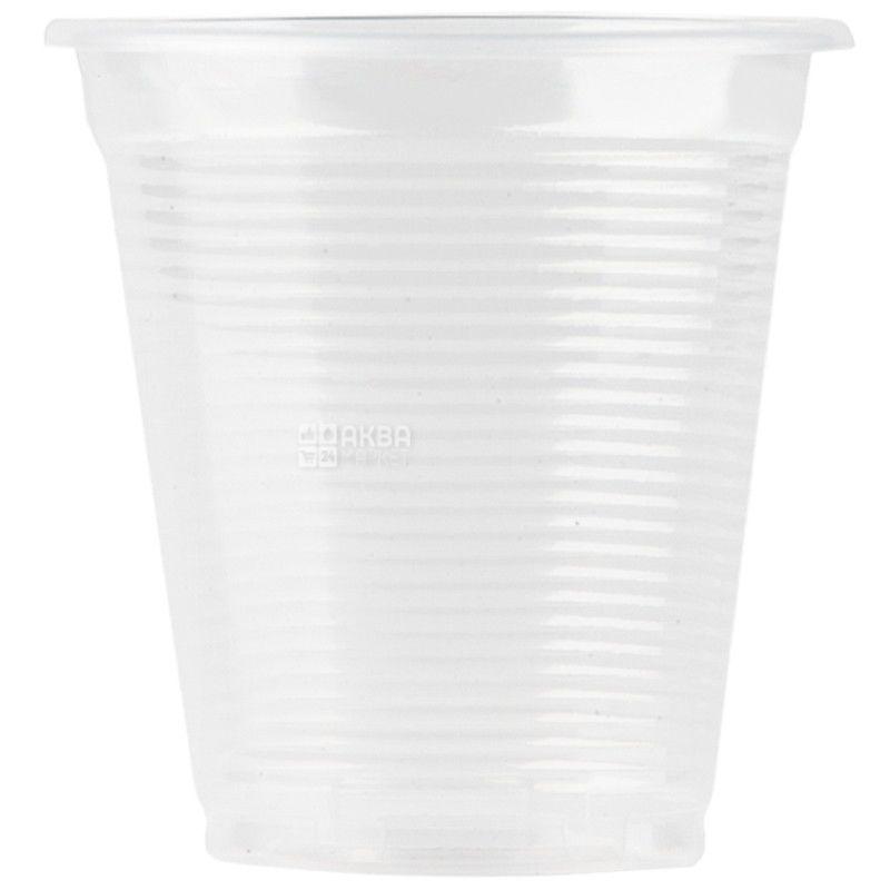 Промтус, 100 шт., 200 мл, стакан пластиковый, Прозрачный устойчивый