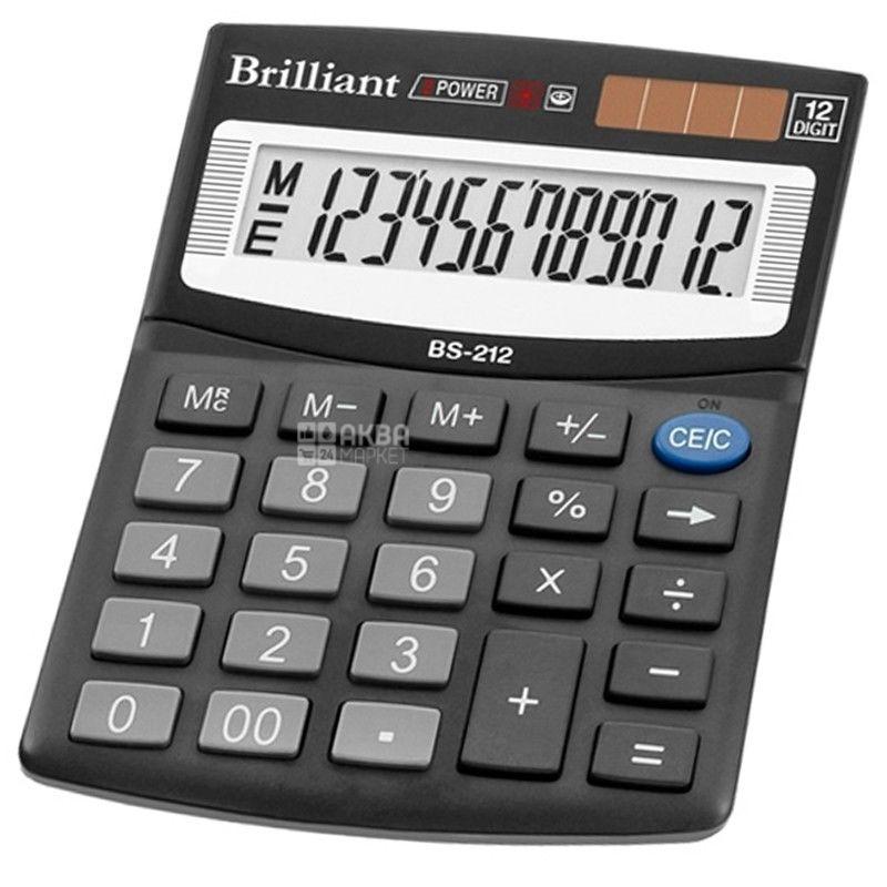 Brilliant, калькулятор настольный, BS-212, м/у