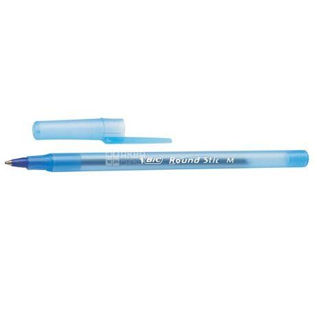 BIC, 6 шт., 0,4 мм, ручка кулькова, Round Stic, Синя, м/у