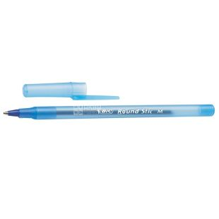 BIC, 6 pcs., 0.4 mm, ball pen, Round Stic, Blue, m / s