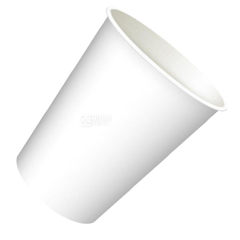 Промтус Стакан белый бумажный 250 мл, 50 шт, D75