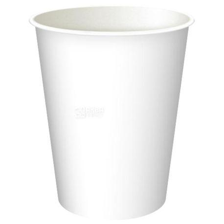Промтус Стакан білий паперовий 250 мл, 50 шт, D75