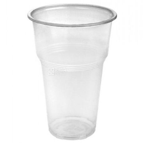 Промтус Стакан пластиковый прозрачный 500 мл, 50 шт.