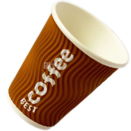 Best Coffee, 25 шт., 330 мл, стакан паперовий, Гофрований, м/у