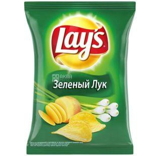 Lay's, 133 г, чипсы со вкусом зеленого лука
