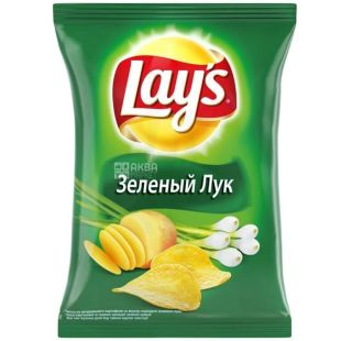 Lay's, 133 g, Potato chips, Green onions, m / s
