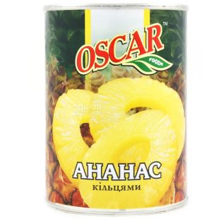 Oscar, 580 ml, pineapple rings