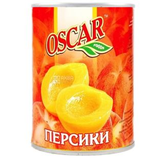 Oscar, 850 ml, peaches, halves