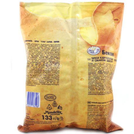 Люкс, 133 г, Чипси картопляні, Бекон