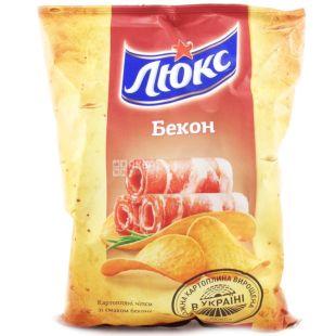 Люкс, 133 г, чипсы со вкусом бекона